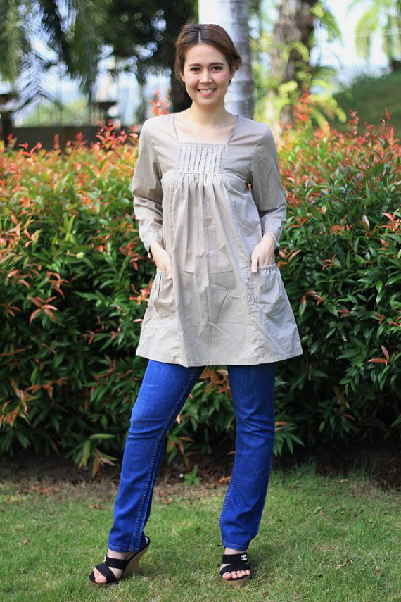 BUY 1 GET 1 FREEM260Lovely blouse with small pleats by giftbywish