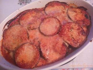 Bakłażan zapiekany z parmezanem / Aubergine baked with Parmesan