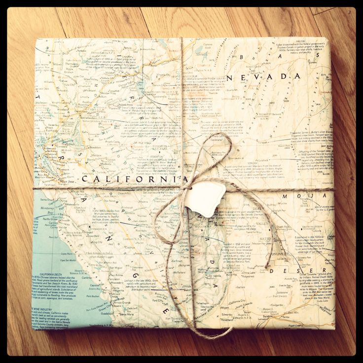 Use a vintage map as wrapping paper.: Fancy Gift, Diy Gift Wrapping, Gift Ideas, Craft Gifts, Gift Pantry, Maps Maps