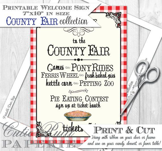 County Fair Party State Fair Party Country by CutiePuttiPaperie