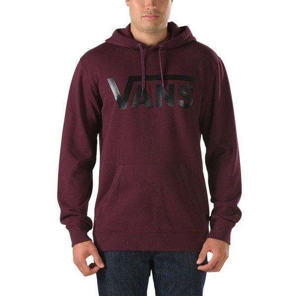 Vans Classic Pullover Hoodie ($55) ❤ liked on Polyvore featuring men's fashion, men's clothing, men's hoodies, red, mens sweatshirts and hoodies, mens tall hoodies, mens cotton hoodies, vans mens hoodies and mens hoodies