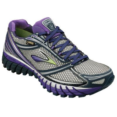 GORE-TEX waterproof neutral running shoe for women: Brooks Ghost 6 GTX. I LOVE these. They keep my feet dry and warm in wet weather!