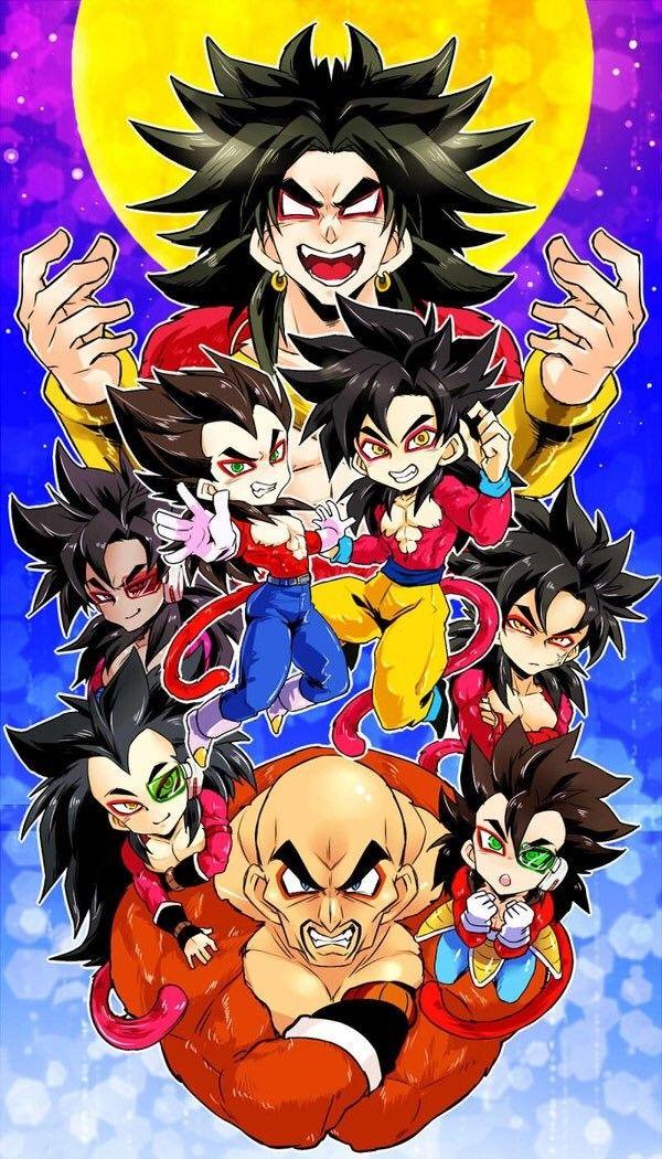 Broly, Goku, Vegeta, Bardock, Tarble, Nappa, Raditz, and ...