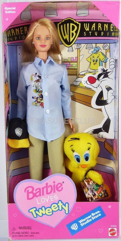 1998 Barbie Loves Tweety Doll Warner Bros. Studio Store #21632 New NRFB Mattel #MattelInc #Dolls