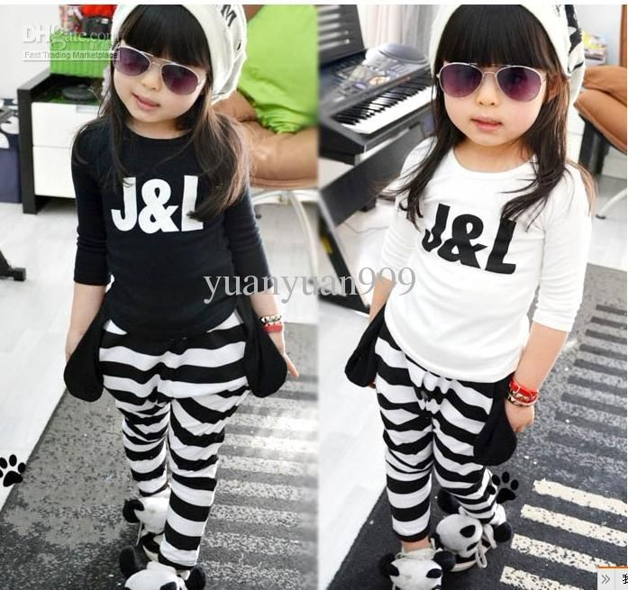 Wholesale New Korean version boys girls long-sleeved blouse / striped harem pants / collapse pants / suits (l, Free shipping, $20.16-22.8/Piece | DHgate