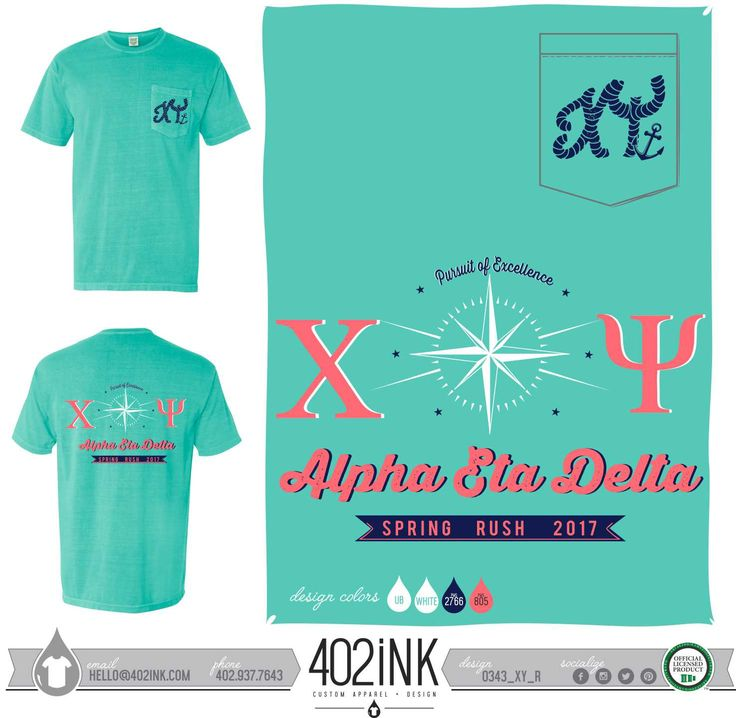 #402ink #402style 402ink, Custom Apparel, Greek T-shirts, Sorority T-shirts, Fraternity T-shirts, Greek Tanks, Custom Greek Apparel, Screen printed apparel, embroidered apparel, Fraternity, XY, Chi Psi, Spring Rush, Nautical Theme