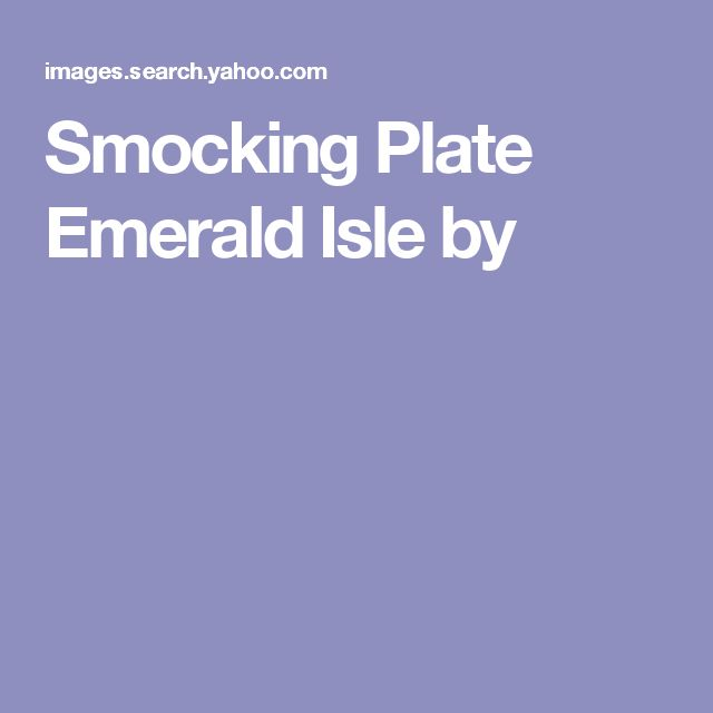 Smocking Plate Emerald Isle by