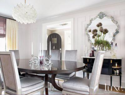 Contemporary Mauve Dining Room