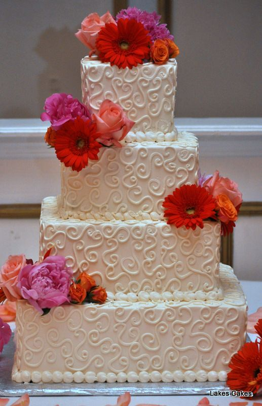 Images Of Cakes Decorated With Fresh Flowers