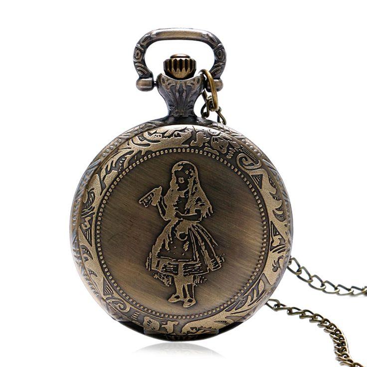 fashion quartz antique pocket watch woman Alice In Wonderland rabbit women vintage fob   watches retro new P951-2