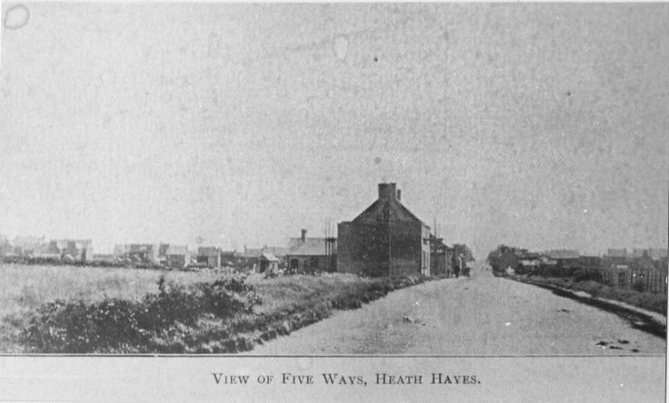 Hednesford Rd, Five Ways Heath Hayes Brothwood kin coal miners