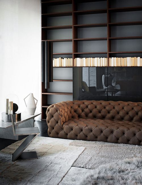 want. no. need.- sofa is sicker then sick. Ill floor. Dope floor, bookcase, and chair... They nailed this space.
