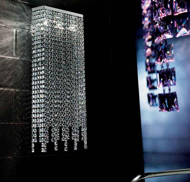 Braga Crystal fali lámpa, csodásan csillogó kristályokkal.