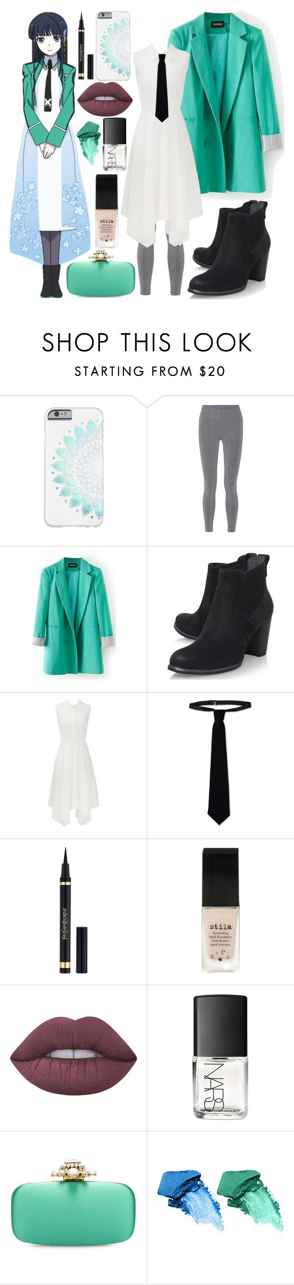 """""""The Irregular at Magic High School // Miyuki"""" by stormtrooper2003 ❤ liked on Polyvore featuring T By Alexander Wang, UGG Australia, Slate & Willow, RED Valentino, Yves Saint Laurent, Stila, Lime Crime, NARS Cosmetics and Oscar de la Renta"""