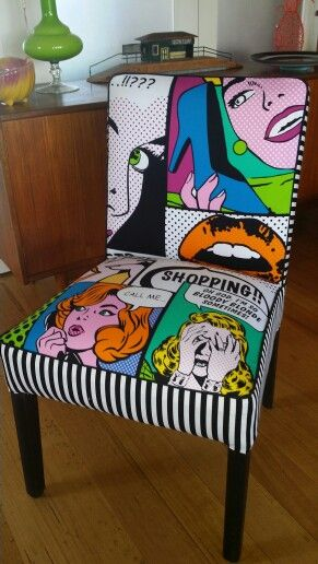 Pop art insanity.  Upholstered by Sally Noble