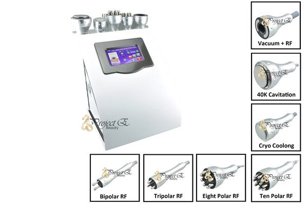 7IN 1 RF RADIO FREQUENCY CRYO PHOTON THERAPY VACUUM BIPOLAR CAVITATION BODY FACIAL BEAUTY MACHINE