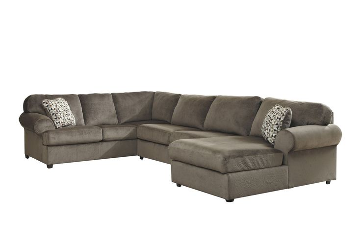 Jessa place dune 3 piece sectional w laf chaise dune for Chaise 3 places