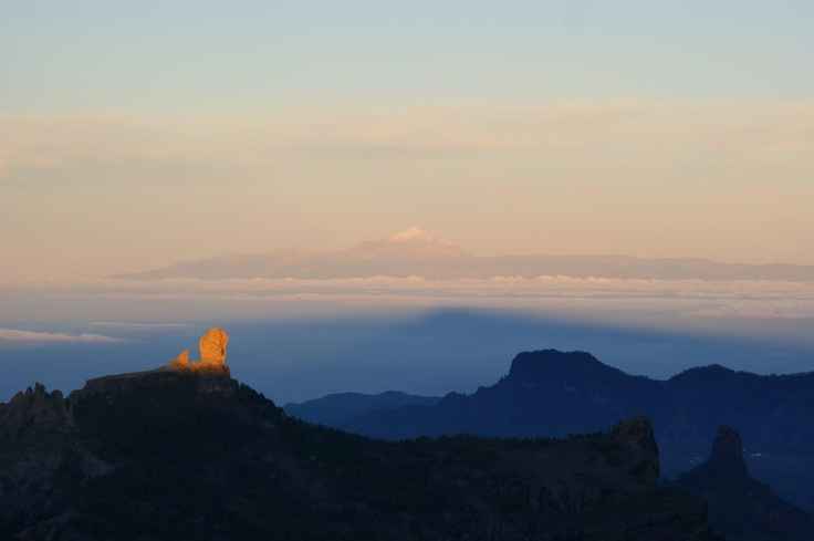 View from Gran Canaria across to Teneriffe.