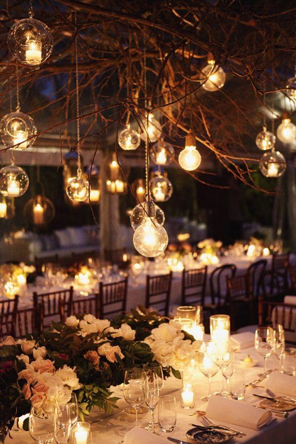 Boda Bella: Decoración de mesas de invierno