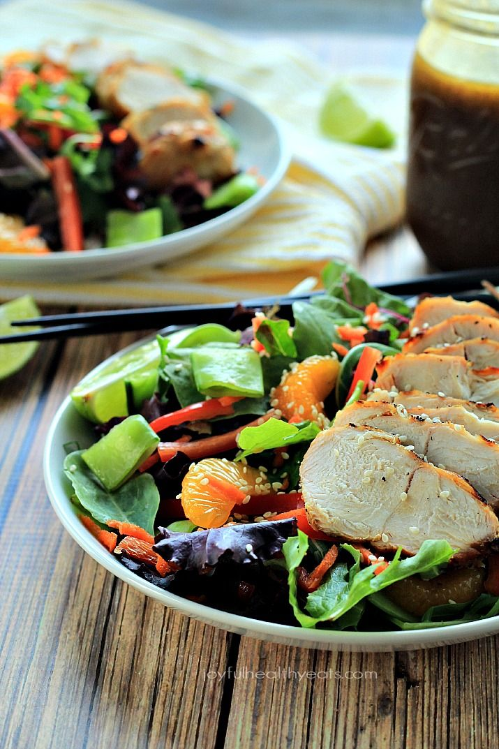 out make this healthy Asian Chicken Salad with Sesame Ginger Dressing ...