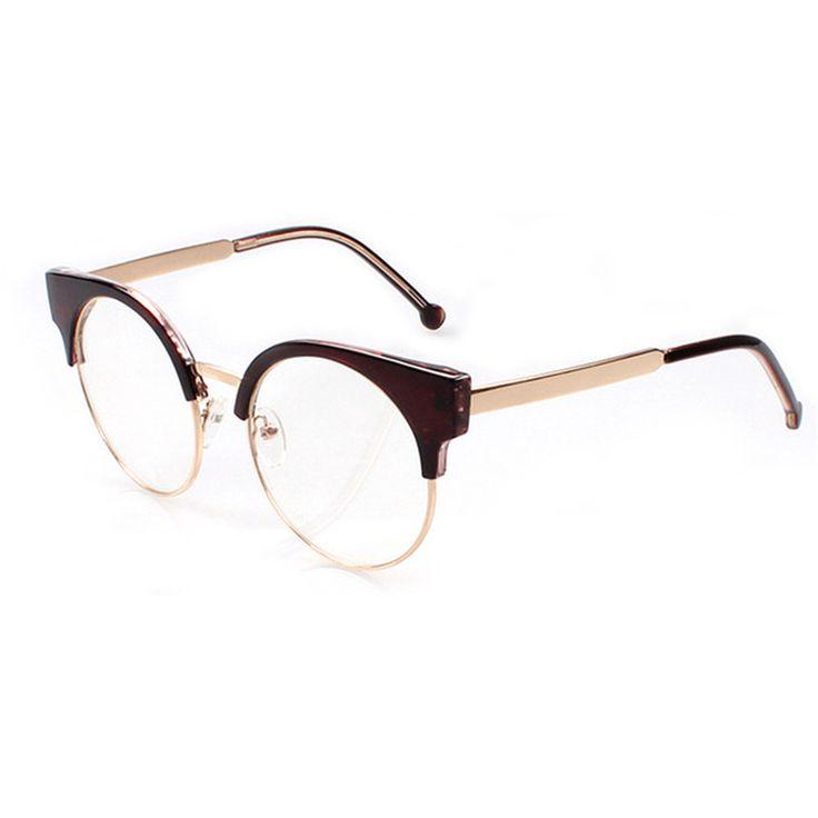 Circle Frame Arrow Fashion Retro Lady Sunglasses , Beige Cadre Translucide Peu à Peu Thé