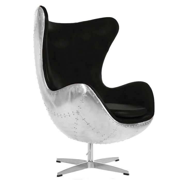 The Pilot Egg chair is a tribute to the original 1969 design by Eero Aarnio. In keeping with the aviation theme, this piece of furniture features a hand crafted riveted aluminium or Copper back (unlike cheaper alternatives), to replicate the classic WW2 Fighter look. A choice of real vintage Italian leather* or faux-leather trim is available in a range of colours. A truly unique aviation chair which would look superb in any contemporary living space. http://www.the-man-shed.com