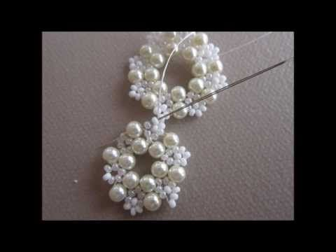 ▶ lace Beaded Earrings. The same pattern Earrings . - YouTube