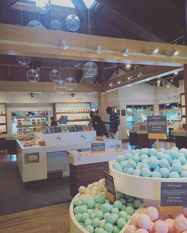 Basin is located in Disney Springs! It shares many similarities to the store Lush, except a little cheaper. In Basin you can find many cute Disney soaps, bath bombs, and bath salts! It is located directly across from the Disney store.