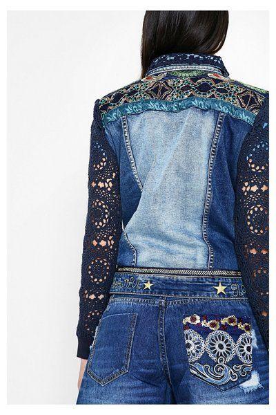 Desigual jeansjacke exotic blue