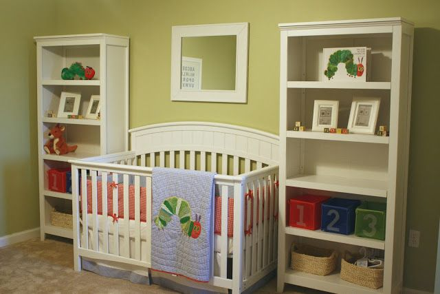 Love this sweet nursery that uses the Hungry Caterpillar Bedding!