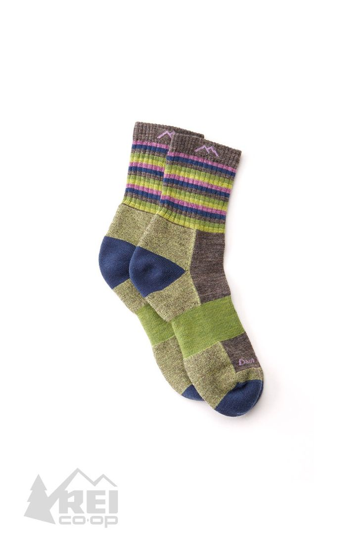 Women's Darn Tough Stripes Micro Crew Socks Perfect for 14ers or quick speed hikes, the Stripes Micro Crew has just the right amount of sass and toughness. Trail proven and ready to roll. #ForceOfNature