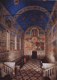 The Arena Chapel Frescoes by Giotto. The frescoes in the Arena Chapel in Padua are among the most celebrated works in the history of art. Giotto's work was a source of inspiration and instruction for generations of painters; it was studied and absorbed by Masaccio, Leonardo da Vinci, Michelangelo, and Raphael, artists whose own work was to be of such fundamental importance for the history of European art.