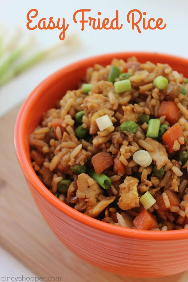 This super Easy Fried Rice Recipe can be made in just a few minutes time. Enjoy it as is or add in some chicken, pork, or even shrimp. Great meal or side dish. Easy Fried Rice My family loves Chinese take out but wow, it can be very expensive to feed my whole crew. Quite...Read More