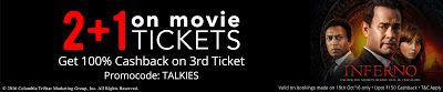 50% cashback upto Rs.200 on Movie Tickets just for Rs. 200.0 on Paytm