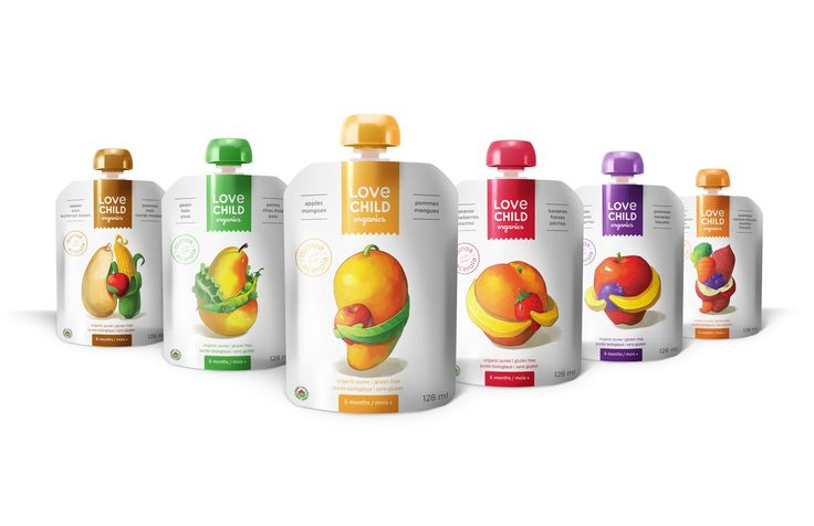 Love Child Organics Baby Food Packaging