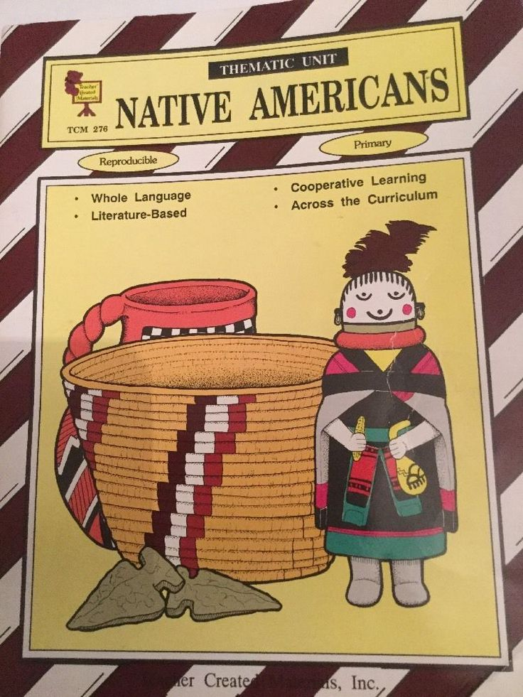 Native Americans Thematic Unit Teacher Created Materials TCM Primary #WorkbookStudyGuide