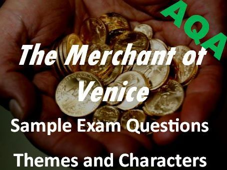 The Merchant of Venice Themes  Characters Sample Exam Questions AQA GCSE New Spec - Revision