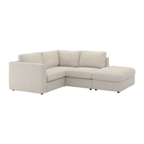 VIMLE Sectional, 3-seat corner - with open end/Gunnared beige - IKEA