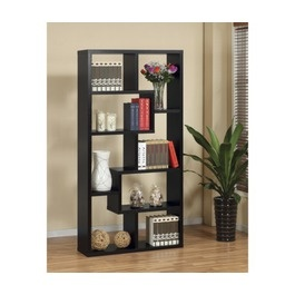 Highpoint Contoured Bookcase - Black: Verena Contours, Living Rooms, Display Cabinets, Contours Levels, Labs Verena, Levels Display, Hokku Design, Books Cases, One Labs