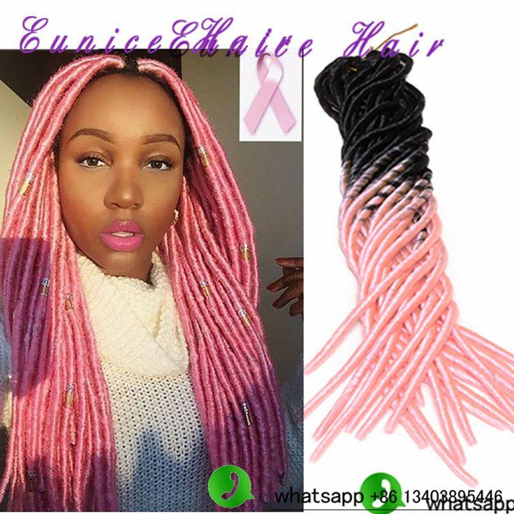 44 best dreadlocs fauxlocs braids images on pinterest hair ombre pink afro faux locs braid hair dreadlocks extensions pmusecretfo Image collections