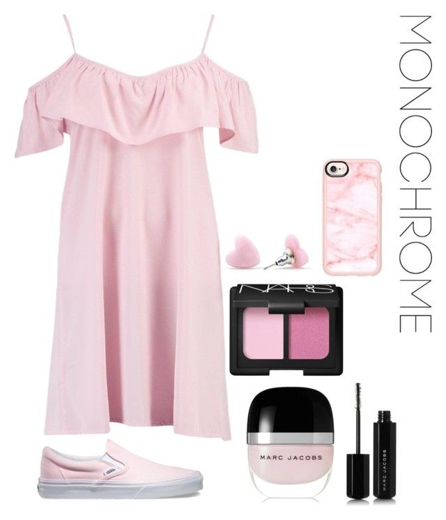 """""""pink"""" by roselie1405x on Polyvore featuring Boohoo, Vans, Marc Jacobs, NARS Cosmetics and Casetify"""