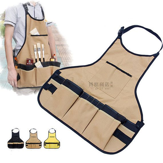 Painting Apron 3 Colors Gardening Apron Kitchen by MyArtSupplies