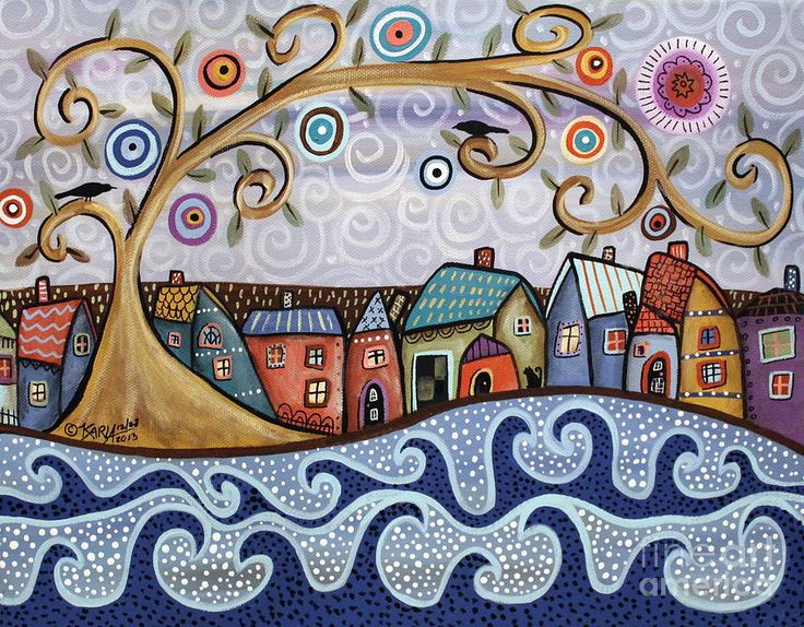 Landscape Painting - By The Sea by Karla Gerard