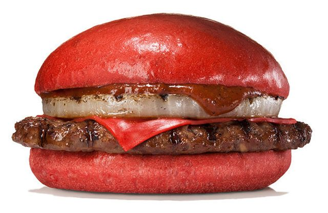 Red Burger is always hot.