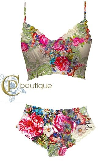 Elegant floral lingerie from Claire Pettibone!