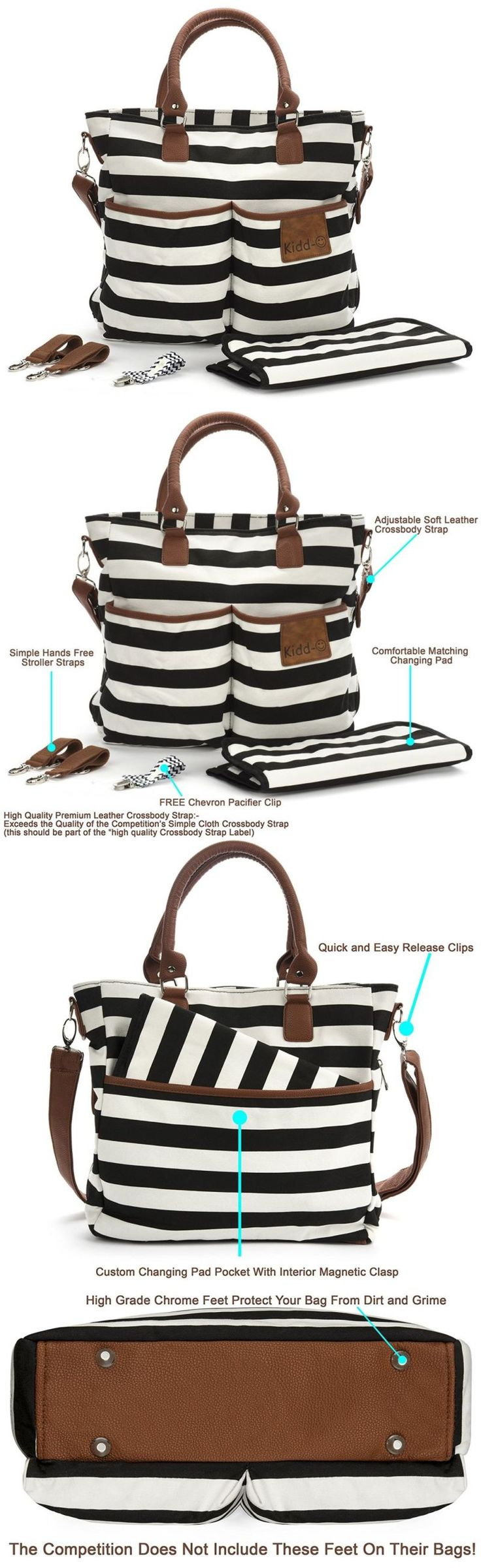 Diaper Bags 146530: Diaper Bag For Baby Boys And Girls - Mom Purse And Tote Organizer - Changing Pad -> BUY IT NOW ONLY: $35.54 on eBay!