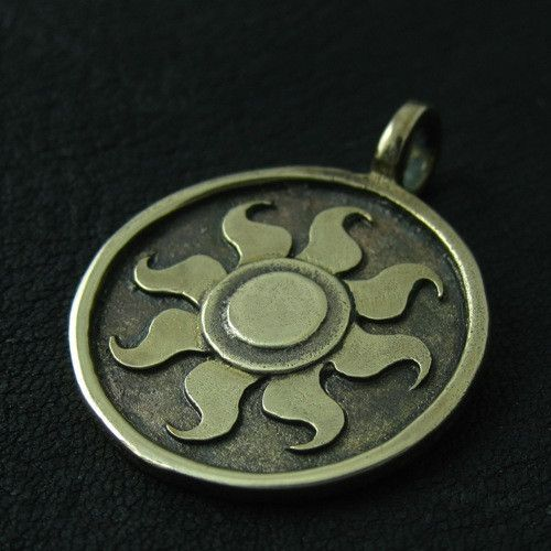 Bronze Celestia's Sun pendant from The Sunken City by DaWanda.com