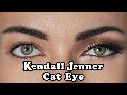 """Hey guys! This is an How To tutorial, for creating a """"Kendall Jenner"""" cat eye, without using too much shadow or going to dark,and basically, how to make your..."""