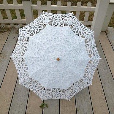Ombrello bianco epoca fatto a mano, in pizzo e merletto #sposa #parasole EUR € 24.23