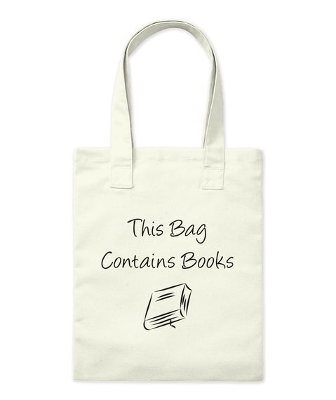 This Bag Contains   Books Natural Tote Bag Front